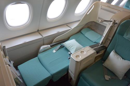 """the lay flat """"Prestige Class"""" sleeper seats"""