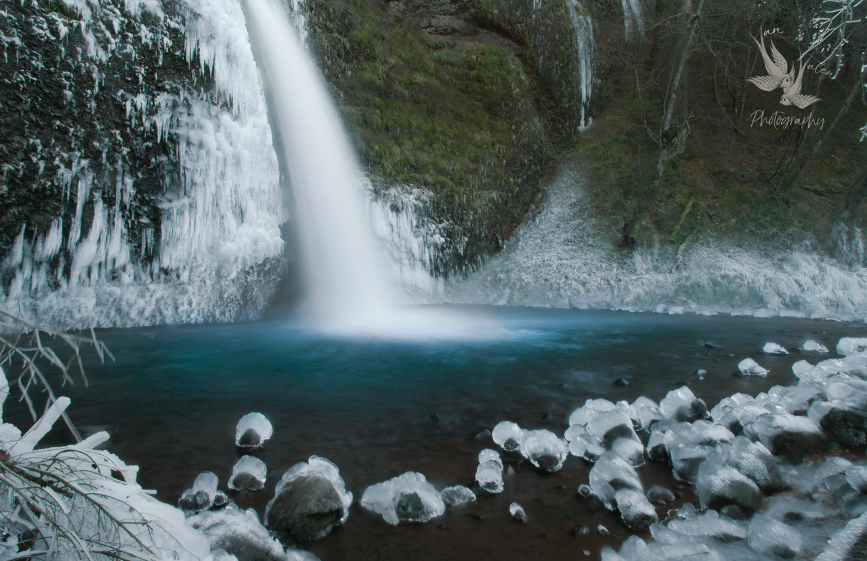 Frozen Horsetail Falls