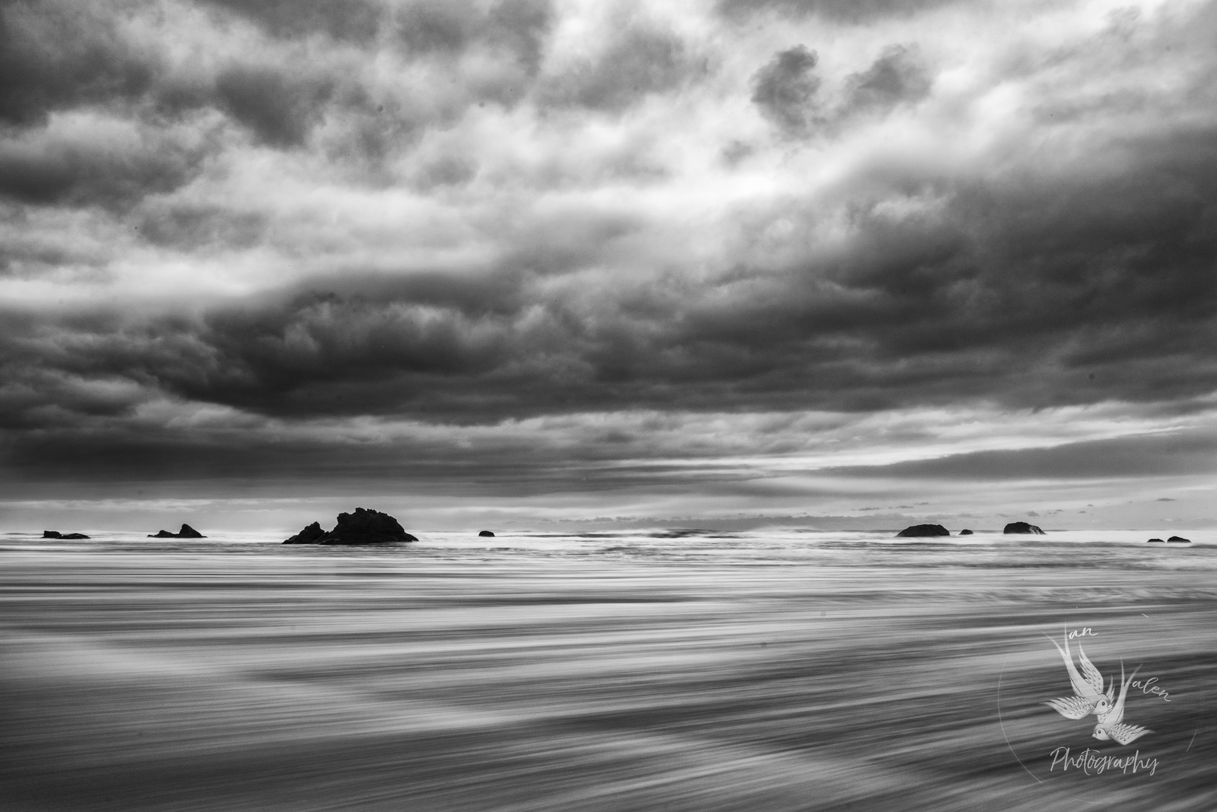 storm clouds over Bandon