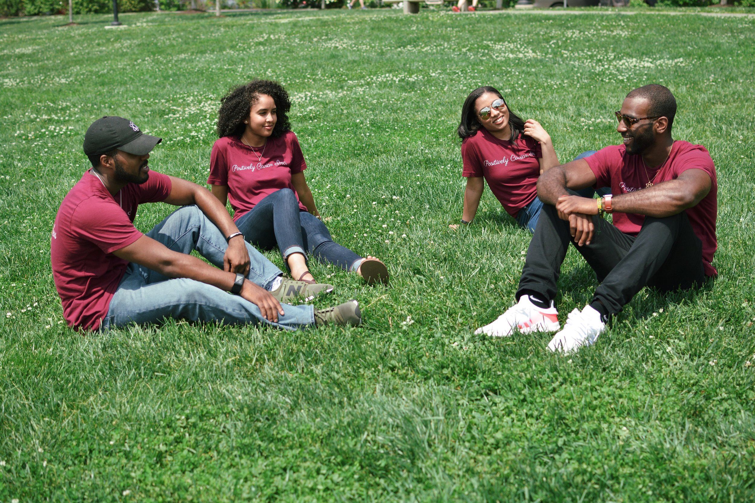 The Nucleus Team of Positively Caviar (left to right) Jean Claude Louis-Charles III, Shayma Sulaiman, Nikki Abraham and Chazz Scott