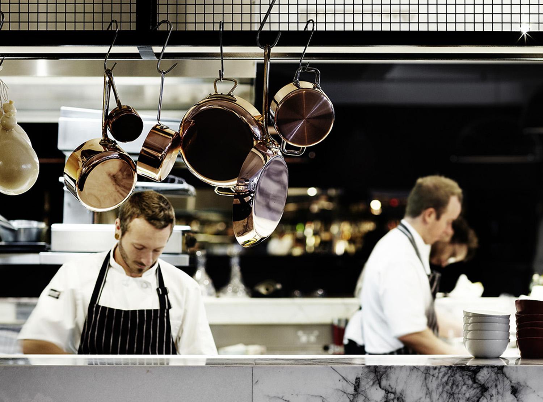 The open kitchen space at Cecconi's – Melbourne CBD