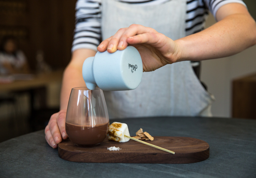 The Campfire Hot Chocolate by Mork - an immersive drinking experience found in North Melbourne, Victoria (image via Broadsheet)