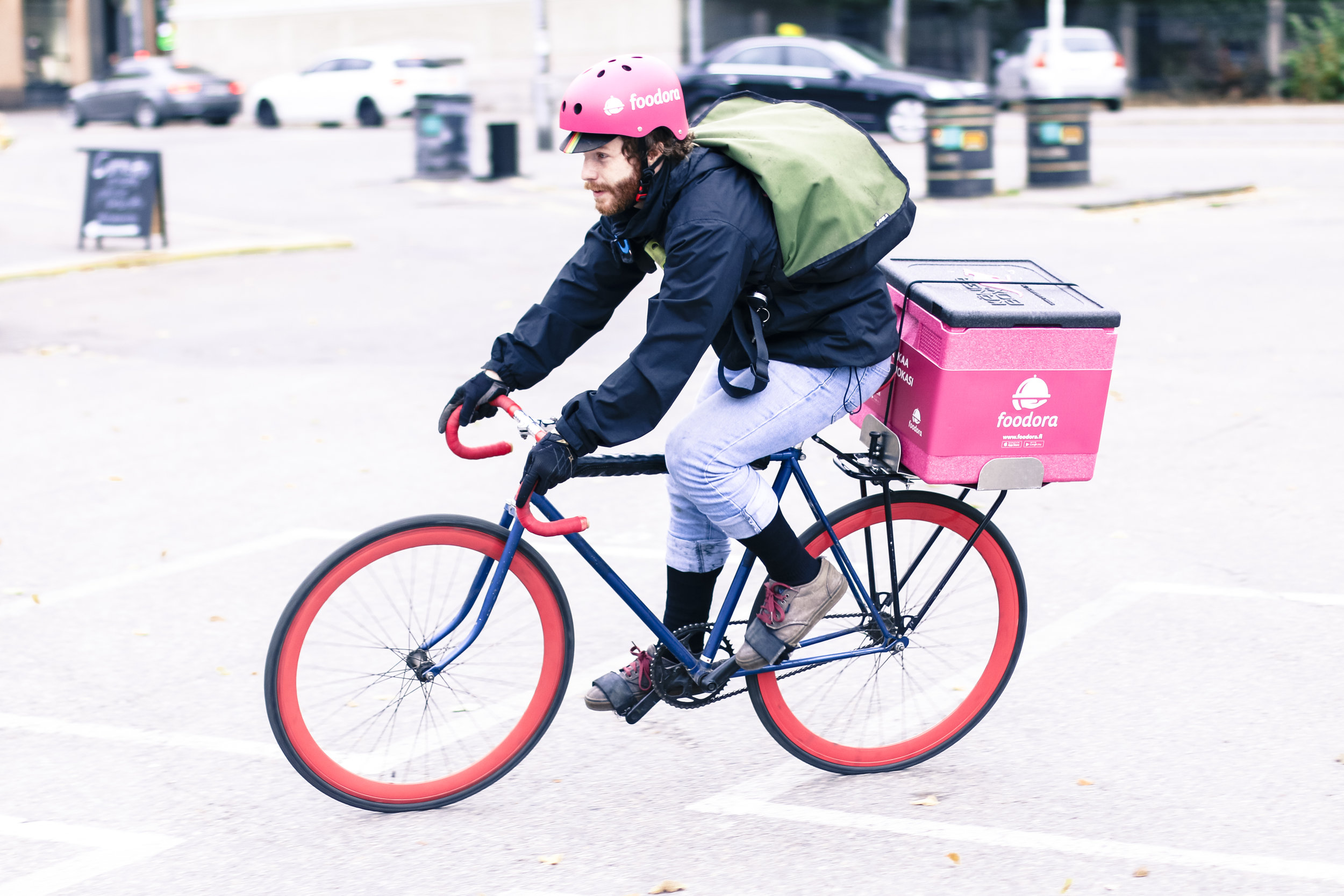 Foodora - a bicyle-based delivery service bringing local favourites to your door