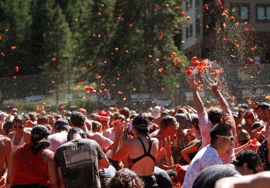 Melbourne's immersive tomato festival held in Autumn