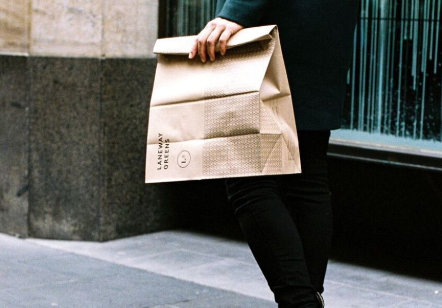 'Grab and Go' by Laneway Greens in Melbourne's CBD (image via Broadsheet)