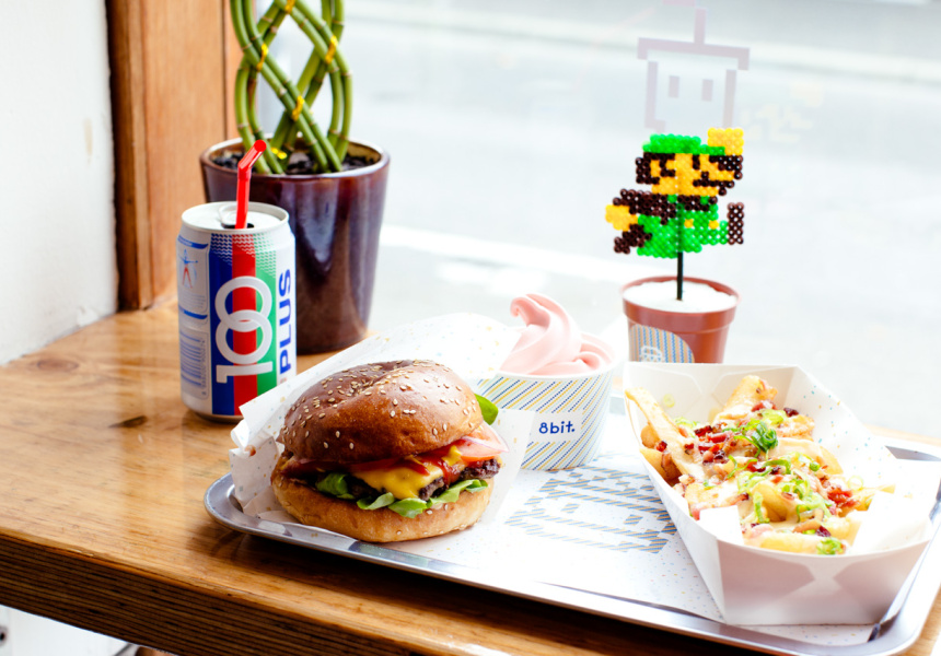 Hyper-popular burger concept, 8Bit attracts the Millennials with buzz food like burgers, milkshakes and dirty fries (image via Broadsheet)
