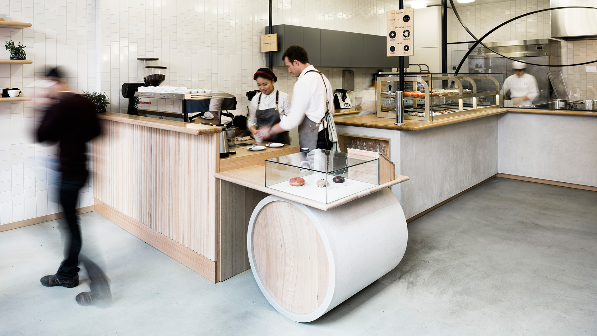 Shortstop Coffee and Donuts  in Melbourne - refined POS design to match the aesthetic as well as provide functionality by  Foolscap Studio  - image credit  Tom Blachford