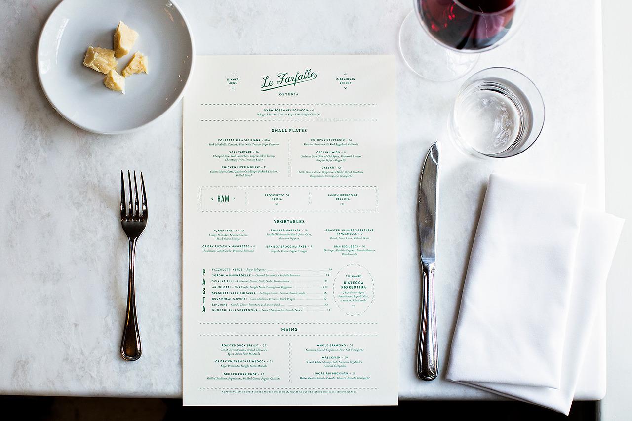 La Farfelle's Menu by One & Other  (image via The Design Blog)