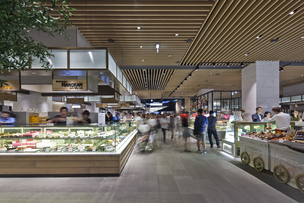 The Hyundai Pangyo, Korea -  see the full offer of dining choices at this design-driven food precinct