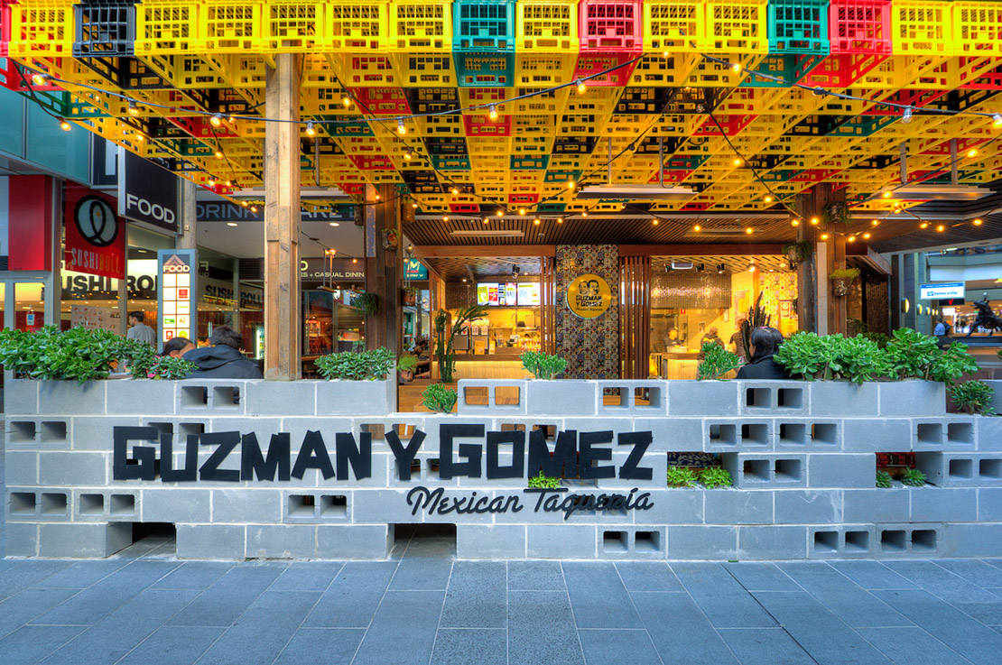Guzman y Gomez in World Square, Sydney - photograph by Thomas Dalhoff for  Mima