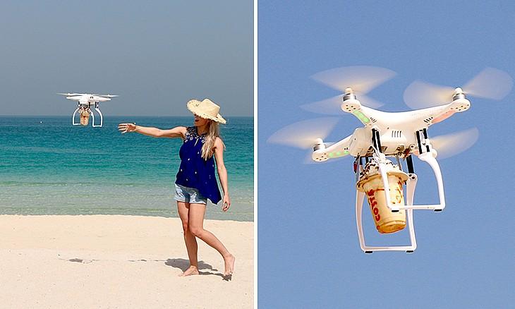 Costa Drone Coffee Delivery Service in Dubai