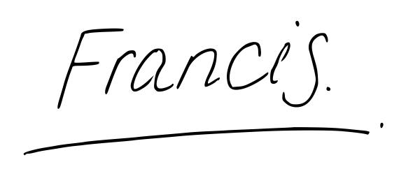 Francis Hand Written
