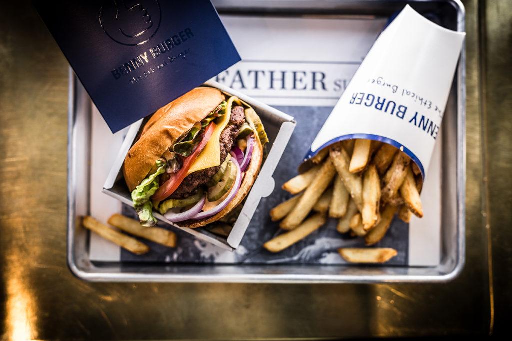 Benny Burger 'The Ethical Burger'  image via Eat Club