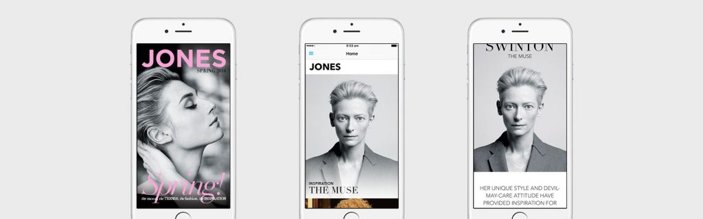JONES by David Jones -a curated edit of fashion trends, inspiration and must-haves that helps support David Jones' overall digital and social strategy  image and App via PLOT MEDIA