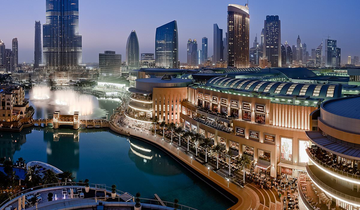 The Dubai Mall with over 1200 stores including world class food outlets  image via Parvezish