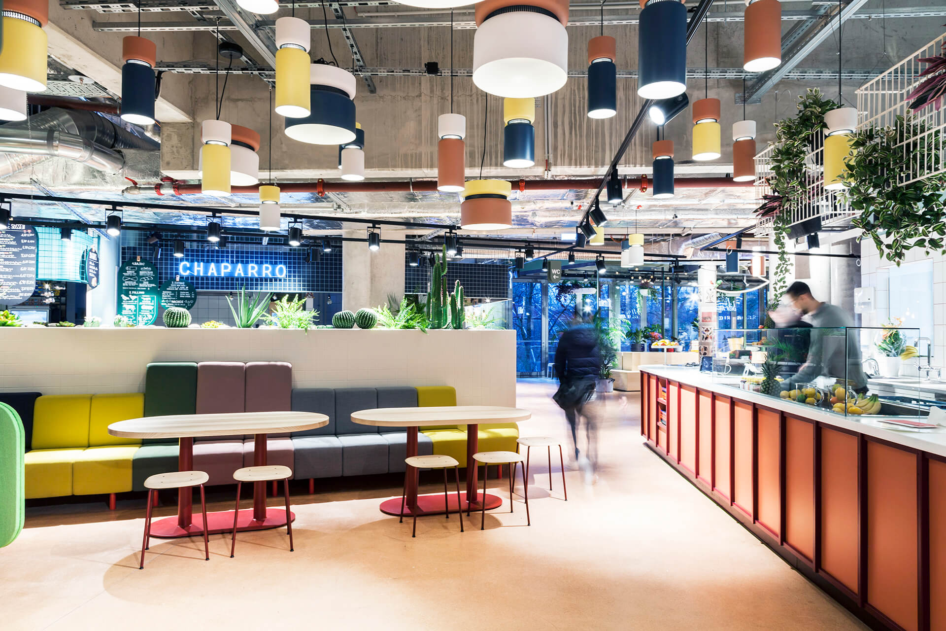 Studio Aisslinger's  Kantini at Bikini Berlin  - a concept shopping centre that purports to be Europe's first design food court  image and cover image via Frame