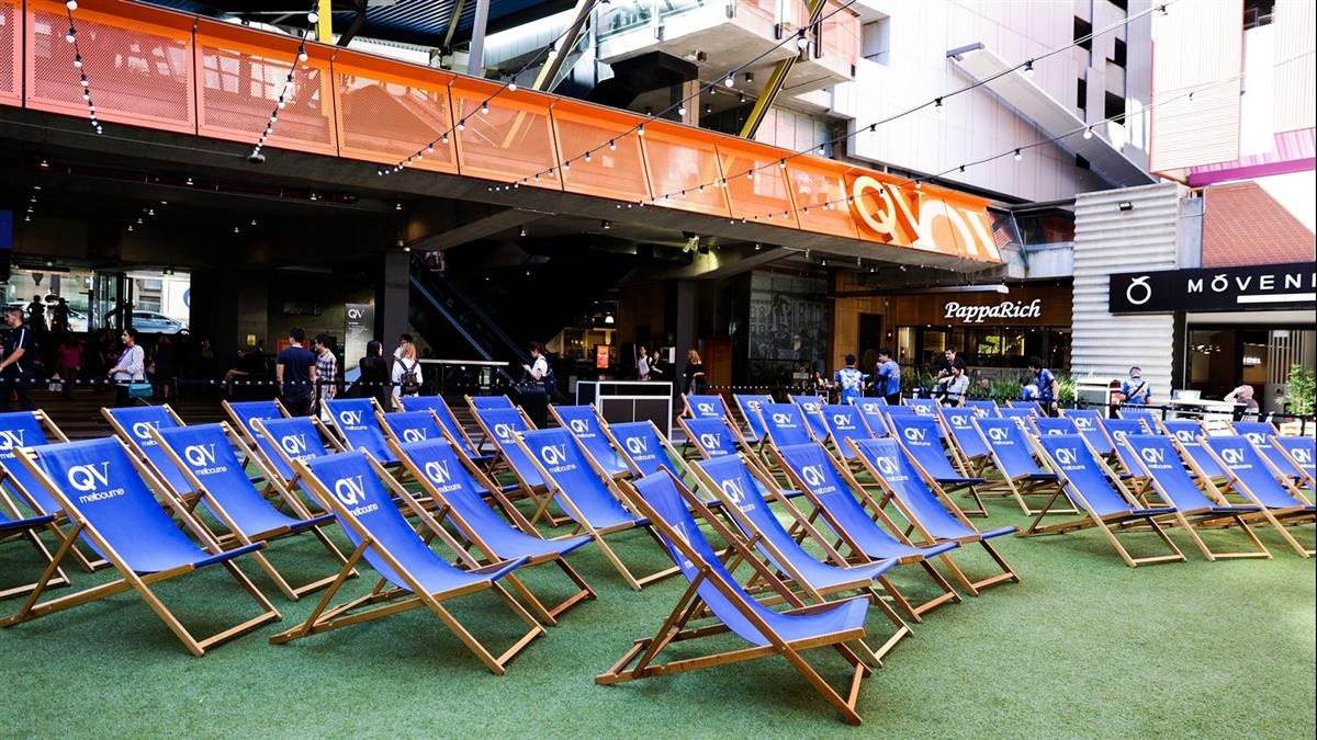 A temporary outdoor cinema pops up at one of Melbourne's central shopping hubs,  QV image via Visit Melbourne