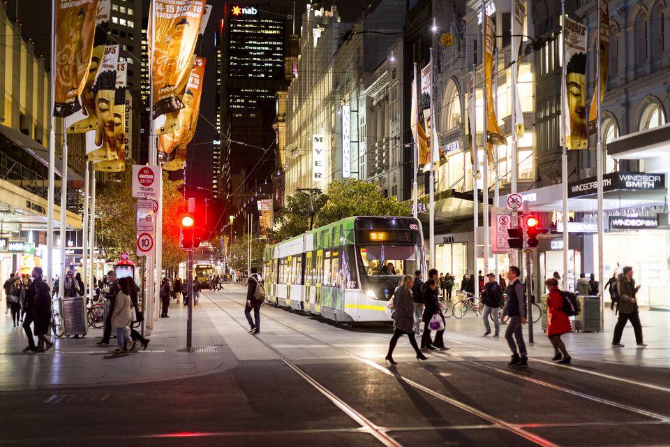 Melbourne's CBD shopping mall on Bourke Street  image via Trip Savvy