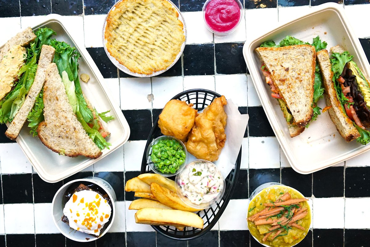 An array of By CHLOE. menu items dished up daily at the Covent Garden outpost  image via the By CHLOE. twitter feed