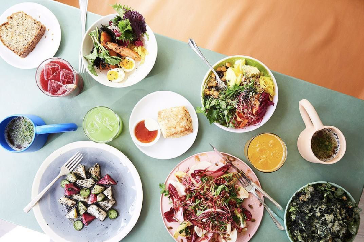 The brunch spread at  De Maria , NYC   image via This Way by Pallesen