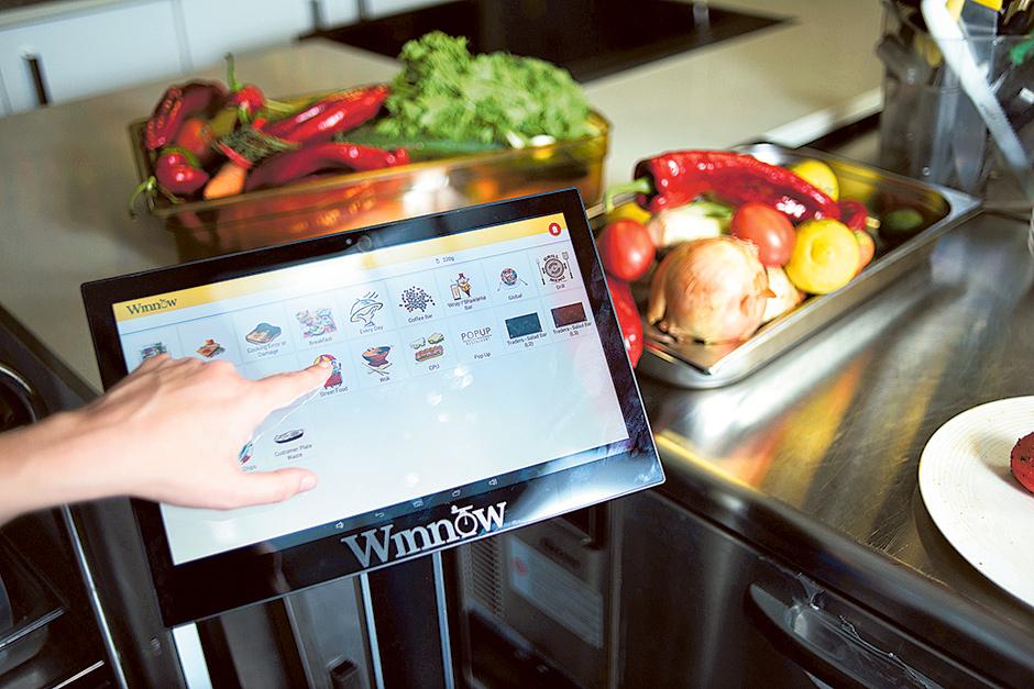 Winnow's food waste analysis system  image via Gulf News