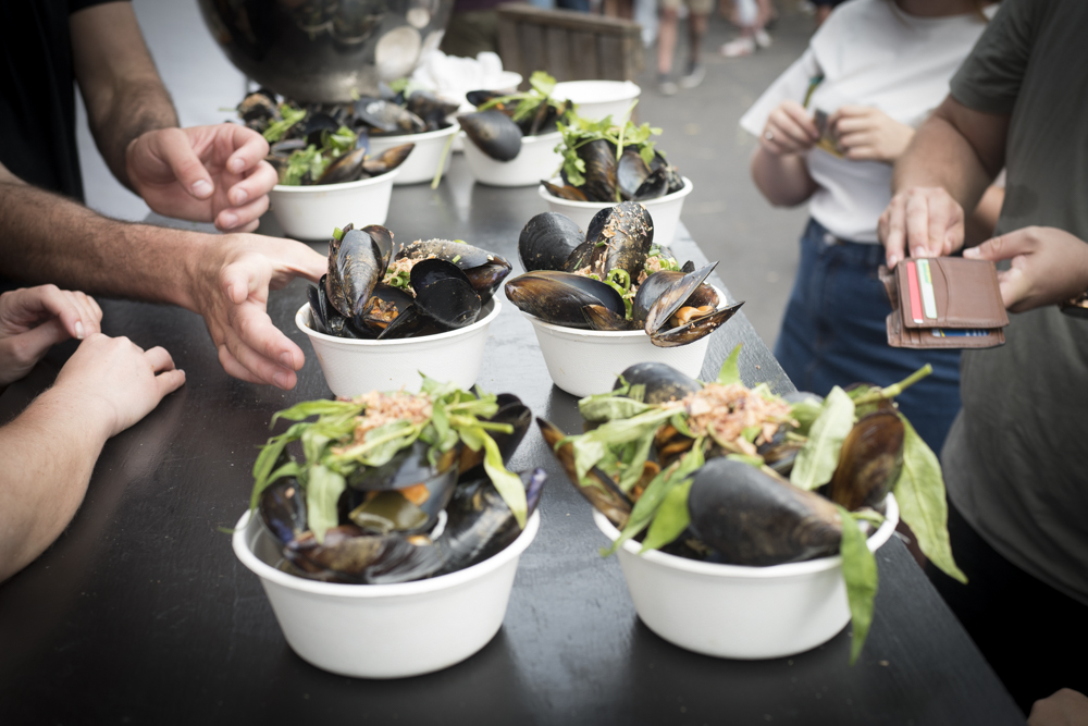 Mussels and Jazz Festival at the South Melbourne Market