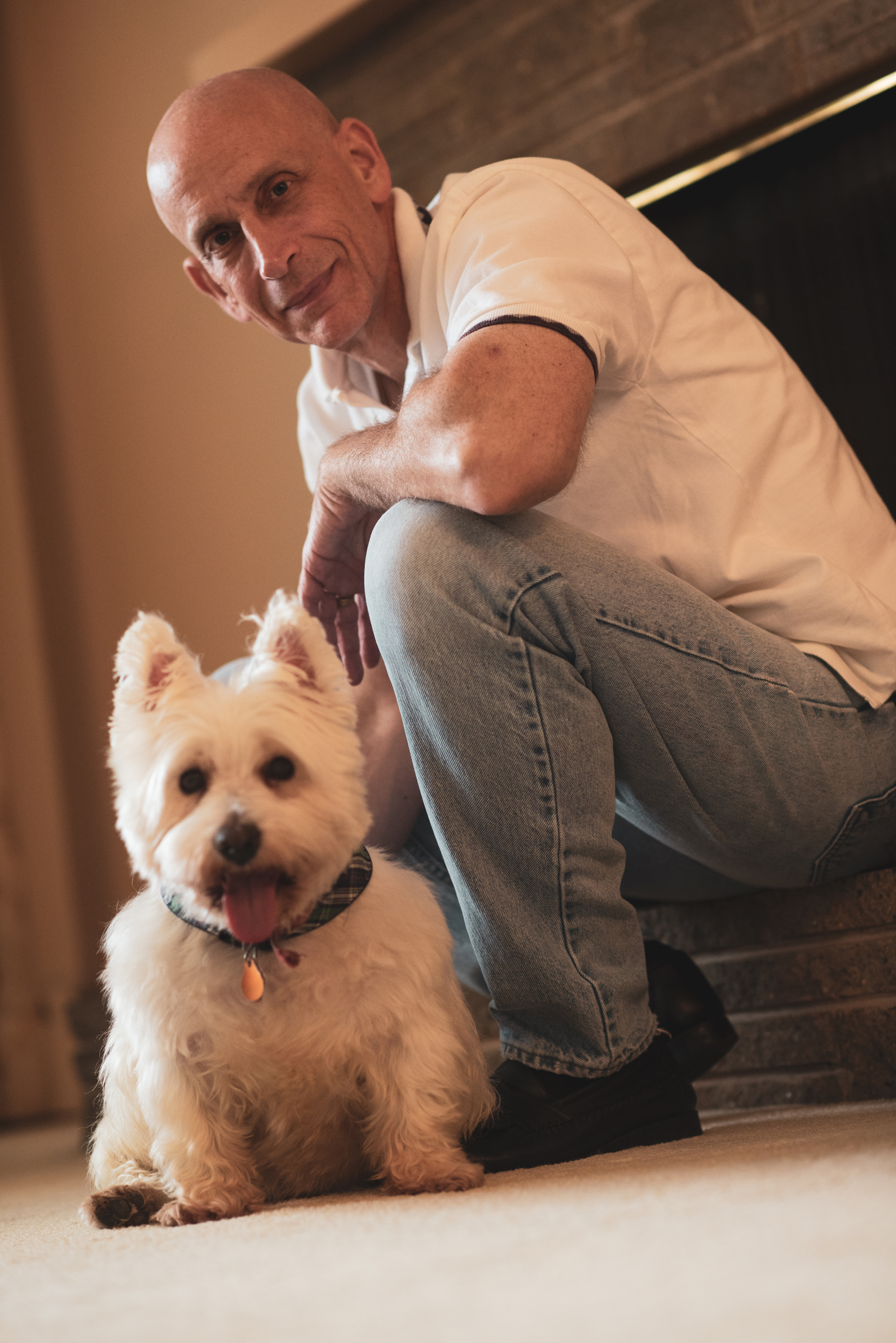 Company Mascot and Chairman of the Bone, Roxie O'Donnell, with Assistant, Barry Lee Cohen
