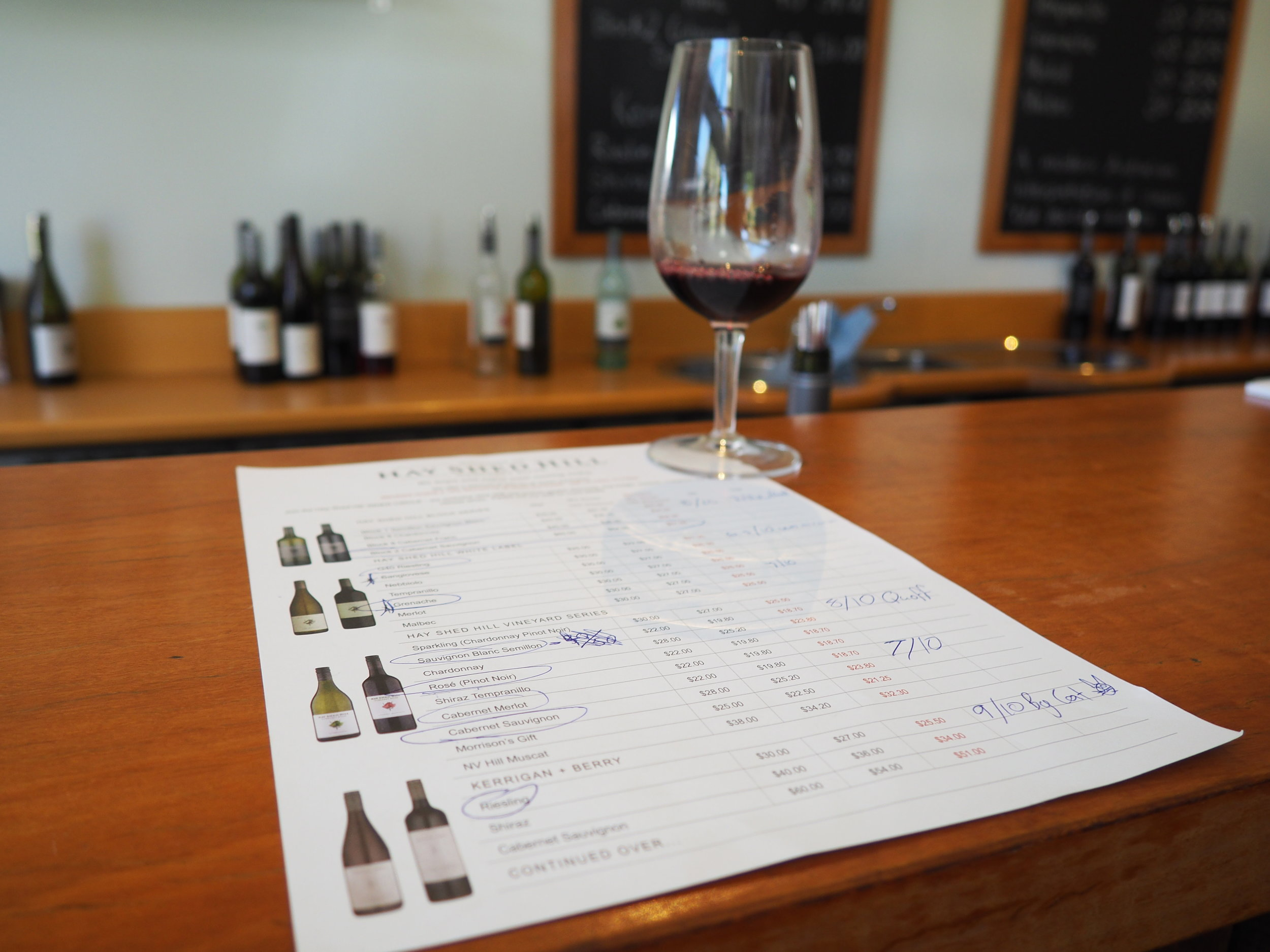 Wine list and glass.JPG