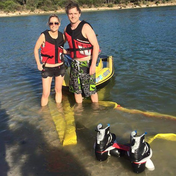 Cat and lawson in from of jet ski.jpg