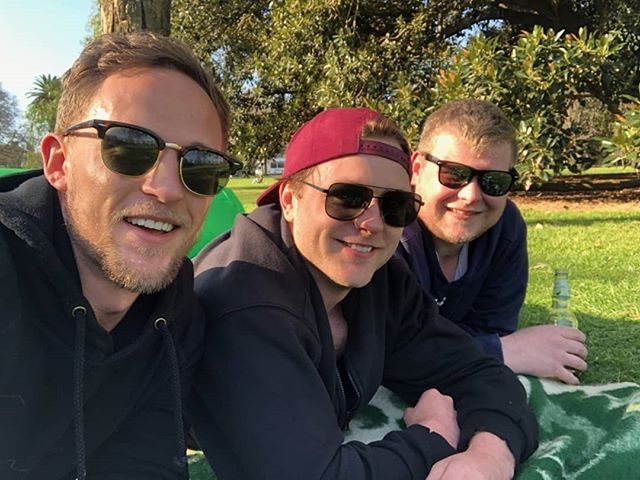 Just three legends watching the AFL grand final in the park on Saturday. Perfect day for it. It was a dangerous day to be a beverage. 🥂🍷🍹🍸🍻🍄 #grandfinalday #beersinthepark #parksandrec #dayforit #lookingforwardtosummer