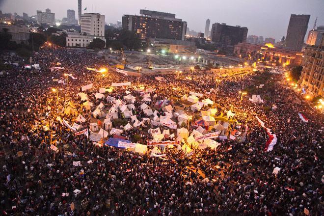 2011 Arab Spring Protests in Tahrir Square, Cairo
