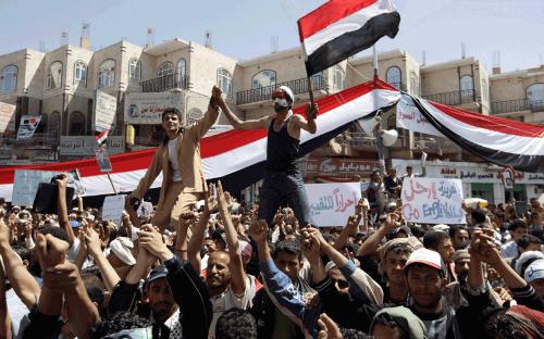 Protests Against Former President Saleh in 2011