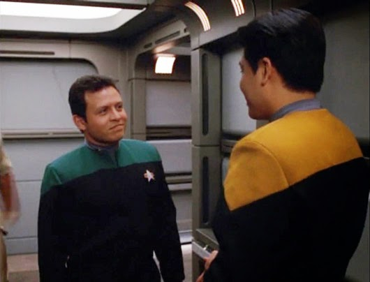 At least this is still real. This is actually the King of Jordan...on Star Trek.