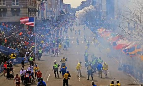 A Scene From The Boston Marathon Bombing