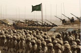 Saudi Arabian Troops in Formation