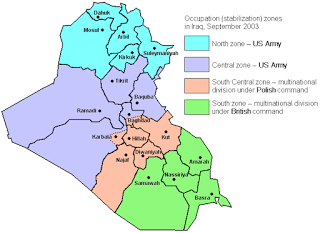 Division of Iraq by September 2003