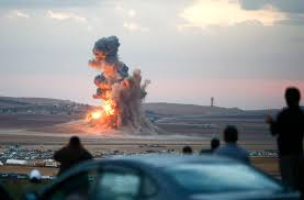 An ISIS Compound Being Bombed