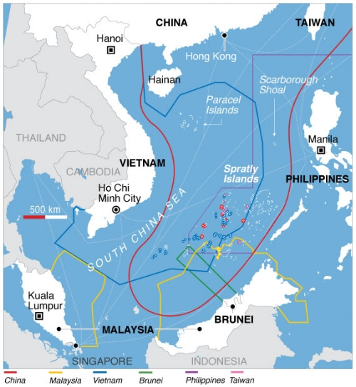 Even the name South China Sea is disputed.