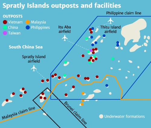 The Spratly Islands are among the most important in this dispute due to their location.