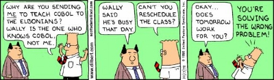 Wise words from Dilbert.