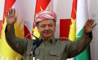 Kurdish president Barzani, seen here rocking a sweet mustache
