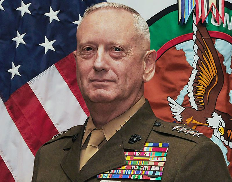 Former Defense Secretary James Mattis, who resigned in part because of America's withdrawal from Syria.
