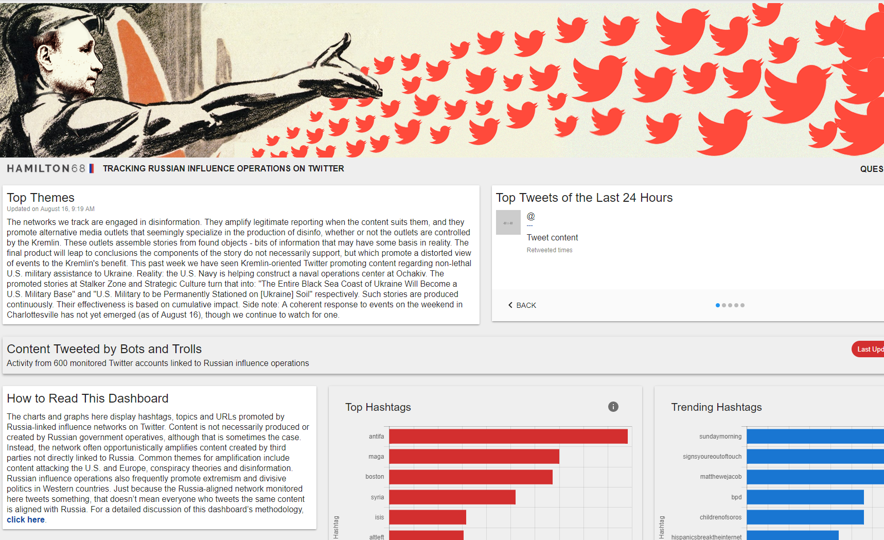 An analysis of Russia's twitter bots.