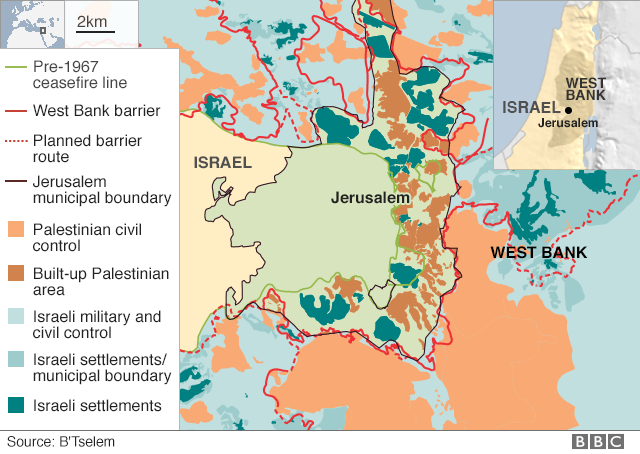 Jerusalem, still not resolved despite American recognition as the capital of Israel.