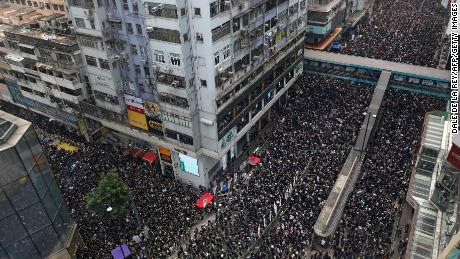 Millions have attended protests throughout Hong Kong this month.