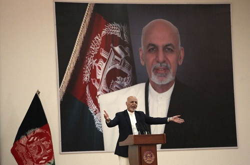 Afghani President Ashraf Ghani, also confused about the peace process.