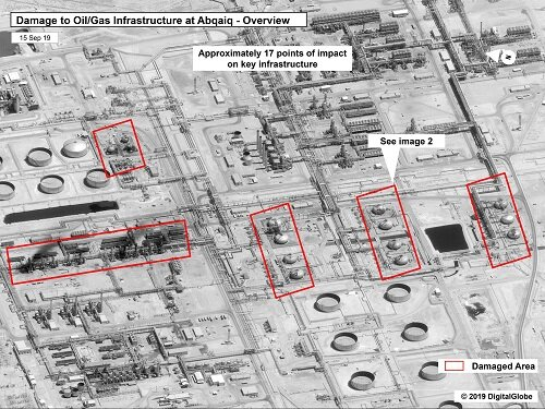 Images of the attack targets in Saudi Arabia