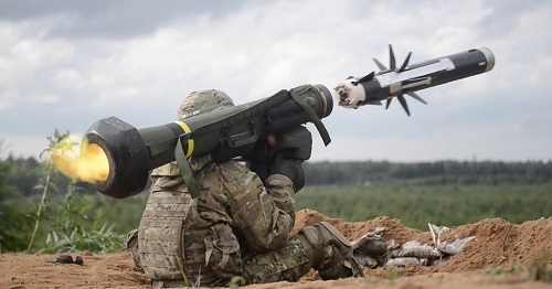 The Javelin anti-take missiles as requested by Ukrainian president Zelensky