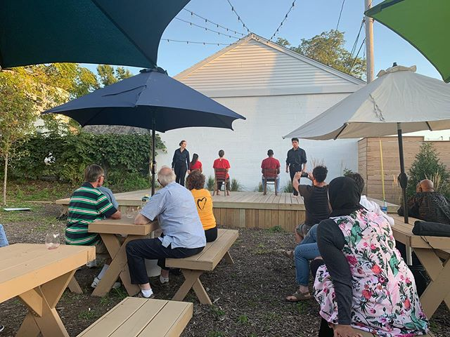 We revived the first 12 minutes of Denied Admission last night to share with @akroninterfaith at their social. It was an honor to connect with the group, perform at @exchangehouseakron, and get the gang back together! #gdtdeniedadmission #northhillakron