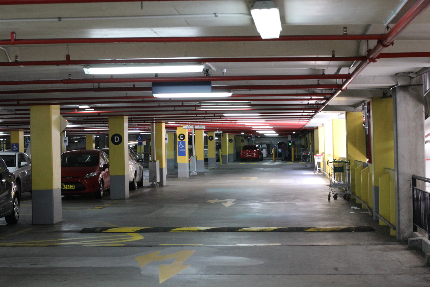 Yellow Carpark Block turn right into the Mall Entry.